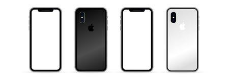 Free Kyiv, Ukraine - March 30, 2021: Iphone X Mock Up Set. Realistic Smart Phone Set. UI UX White User Interface Stock Photography - 215828132