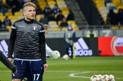 KYIV, UKRAINE - 15 March, 2018: Ciro Immobile during the UEFA Eu stock photography