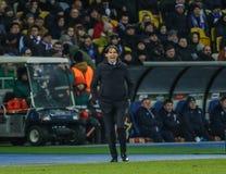 Dynamo Kyiv against SS Lazio stock photo