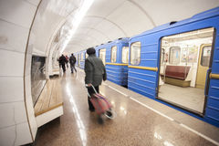 KYIV, UKRAINE - March 30, 2012. Metro Station Dorogozhychi, Kiev, Ukraine Stock Photo