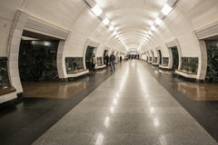 KYIV, UKRAINE - March 30, 2012. Metro Station Dorogozhychi, Kiev, Ukraine Stock Photos
