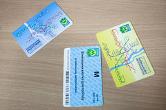 KYIV, UKRAINE - March 30, 2012. A ticket in the subway Stock Image