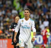 UEFA Champions League Final 2018 Real Madrid v Liverpool. KYIV, UKRAINE - MAY 26, 2018: Portrait of Real Madrid player Cristiano Ronaldo during the UEFA stock image