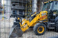Kyiv, Ukraine - November 4, 2018: JCB Bulldozer tractor at a construction site stock images