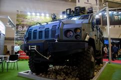 Kyiv, Ukraine - October 10, 2018: Armoured personnel carrier VARTA. International Exhibition ARMS AND SECURITY 2018. Armoured personnel carrier VARTA stock photos