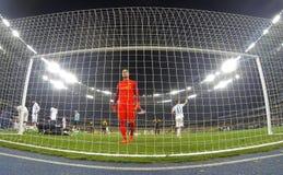 UEFA Europa League: FC Dynamo Kyiv v Young Boys. KYIV, UKRAINE - OCTOBER 26, 2017: Goalkeeper David Von Ballmoos of Young Boys in action during UEFA Europa Stock Images