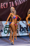 KYIV, UKRAINE, OCTOBER 10, 2015 - IFBB - Evgenia Pastireva side Stock Images
