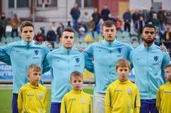 KYIV, UKRAINE - October 10, 2017: Netherlands Football player du. Ring the qualification match of the European Championship 2019 (U21) between Ukraine U21 vs stock images