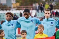 KYIV, UKRAINE - October 10, 2017: Netherlands Football player du. Ring the qualification match of the European Championship 2019 (U21) between Ukraine U21 vs royalty free stock photo