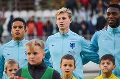 KYIV, UKRAINE - October 10, 2017: Netherlands Football player du. Ring the qualification match of the European Championship 2019 (U21) between Ukraine U21 vs stock image