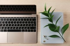 KYIV, UKRAINE - 24. OKTOBER 2017: Gold Apples MacBook Lizenzfreies Stockbild