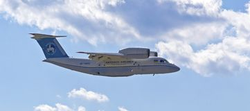 KYIV, UKRAINE - SEPTEMBER 29:Antonov An-74т transport aircraft Royalty Free Stock Photography
