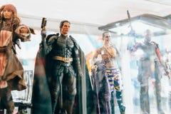 KYIV, UKRAINE - 9. SEPTEMBER 2018: Christian Bale als Batman-figu lizenzfreie stockfotos