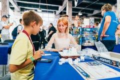 KYIV, UKRAINE - SEPTEMBER 23, 2018: General photo at Comic Con UA. KYIV, UKRAINE - SEPTEMBER 23, 2018: General photo at Comic Con Ukraine convention at Kyiv or stock photo