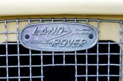 Kyiv, Ukraine - September 30, 2018: Old Land Rover Logo stock photo