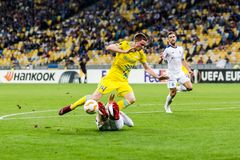 UEFA Europa League football match Dynamo Kyiv – Astana, Septem royalty free stock photography