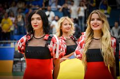 KYIV, UKRAINE - September 14 2018: Red Foxes Olympic dance team royalty free stock photo