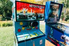 KYIV, UKRAINE - SEPTEMBER 22, 2018: Soviet era arcade machine royalty free stock photography