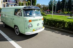 Kyiv, Ukraine - September 30, 2018: Volkswagen Transporter t2. OldCarLand festival royalty free stock photos