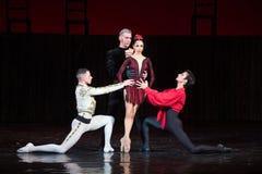 Kyiv visade den nationella operettteatern baletten Royaltyfria Foton