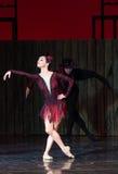 Kyiv visade den nationella operettteatern baletten Arkivbilder