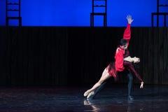 Kyiv visade den nationella operettteatern baletten Royaltyfria Bilder