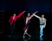 Kyiv visade den nationella operettteatern baletten Arkivfoto