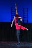 Kyiv visade den nationella operettteatern baletten Arkivfoton