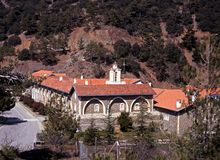 Kykkos Monastery, Troodos Mountains, Cyprus. Stock Images