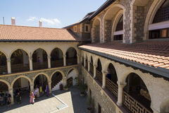Kykkos monastry. The inner area of the Kykkos monastry in Cyprus Royalty Free Stock Images