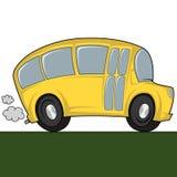 Kyla bussen Arkivbild