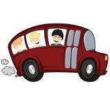 Kyla bussen Arkivfoto
