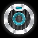 Kyla den metalliska högtalaren med sexhörningsingreppet Arkivfoto