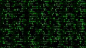 Kyla Digital binär matriseffekt Arkivfoton