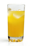Kyld orange drink. royaltyfri fotografi