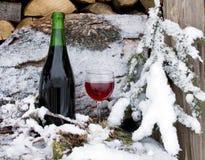 kyld rött vin royaltyfria bilder