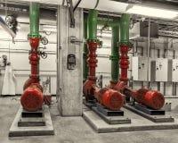 Kylde vattenpumpar och VFD-drev, tonad bild Arkivbilder