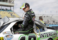 Kyle Busch. NASCAR race car driver Kyle Busch entering his Interstate Batteries, Joe Gibbs Racing Sprint Cup car Stock Photos