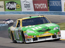 Kyle Busch drives through the Esses Stock Image
