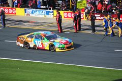 Kyle Busch leaving pit road Stock Photography