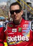 Kyle Busch NASCAR sprintar koppchauffören Arkivfoto