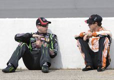 Kyle Busch talks with Joey Logano Royalty Free Stock Photo