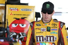 Kyle Busch at track Stock Photography