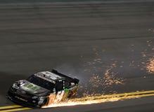 Kyle Busch Wracke in Daytona Stockbild