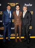 Kyle Chandler, Christopher Abbott and George Clooney stock photo