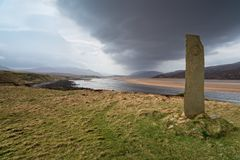 Kyle of Durness in Scotland. Looking out over Kyle of Durness from Keoldale just outside Durness in the far north of Scotland stock photo