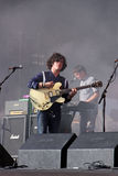 Kyle Falconer of The View indie band on stage Stock Photos