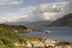Kyle of Lochalsh. Kyle of Localsh, from the base of the Skye road bridge Stock Photo