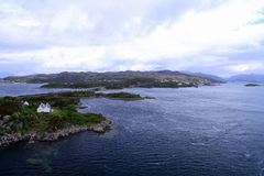 Kyle of Lochalsh. View on the city and sea at Kyle of Lochalsh Stock Photography