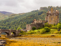 Kyle of Lochalsh. Scotland, UK. September 19th 2015. Eilean Donan Castle at Low Tide Royalty Free Stock Image